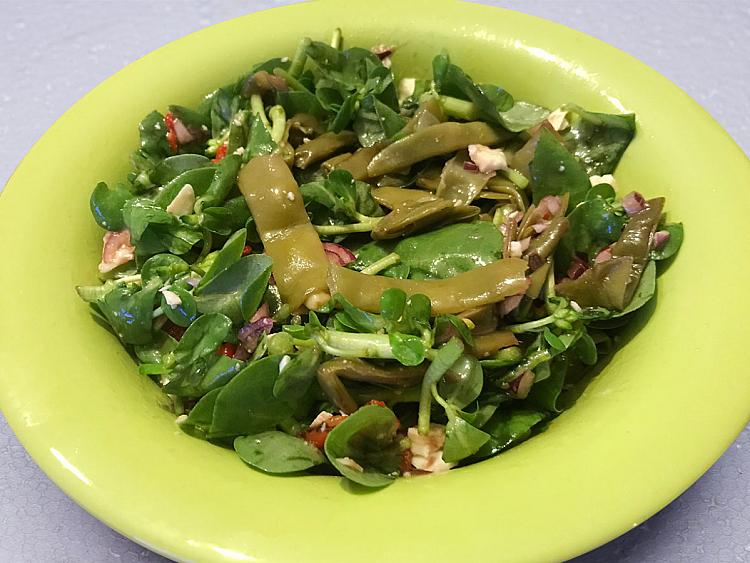Fasulyeli Semizotu Salatası