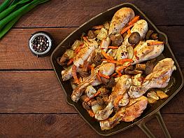 Fırında Mantarlı Tavuk