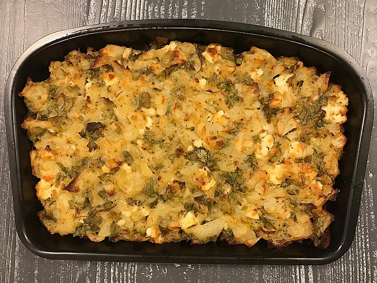 Fırında Peynirli Patates