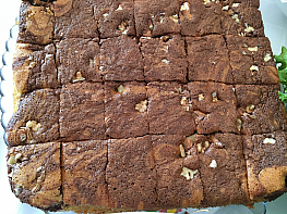 Kakaolu Cevizli Tepsi Keki
