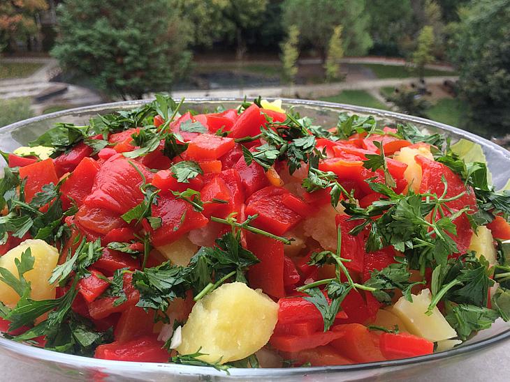 Kapya Biber Turşulu Patates Salatası