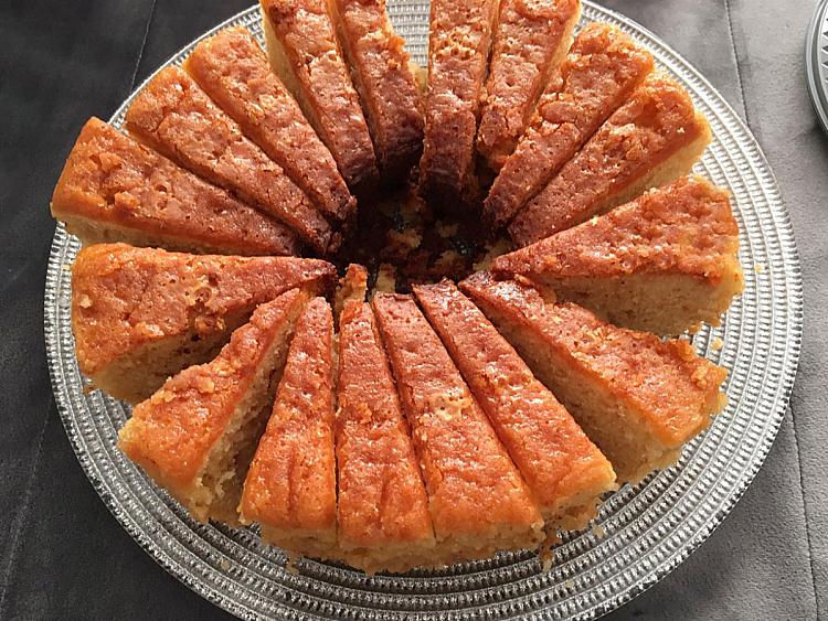 Limonlu Cevizli Kek