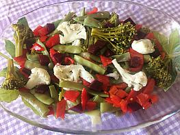 Pancarlı Sebze Salatası