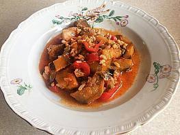 Pirinçli Patlıcan Yemeği