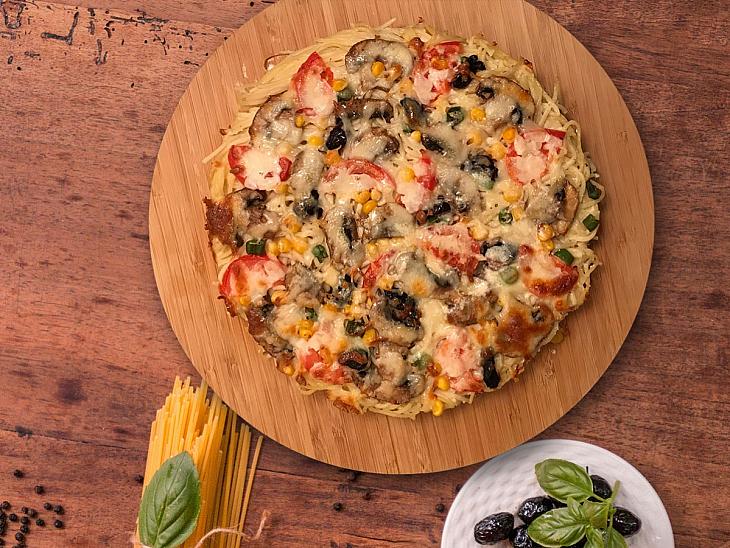 Sebzeli Pizza Makarna