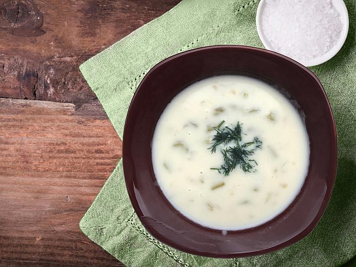 Sütlü Kuşkonmaz Çorbası
