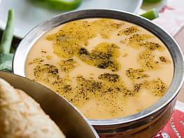 Yoğurtlu Kesme Yeşil Mercimek Çorbası
