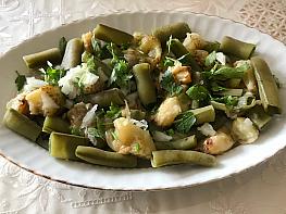 Köz Patlıcanlı Bakla Salatası